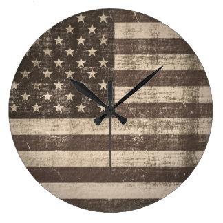 Vintage American Flag Wallclock