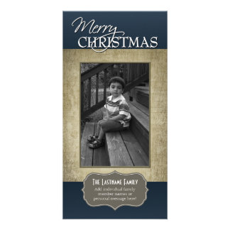 Vintage - Antique Look Christmas Photo Card
