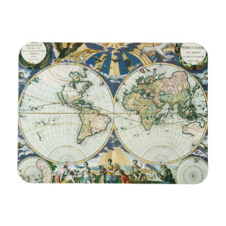 Vintage Antique Old World Map, 1666 by Pieter Goos Rectangular Photo Magnet