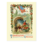 Vintage Antique Patriotic Thanksgiving Postcard