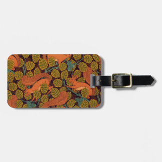Vintage Art Deco Squirrel and Leaves Design Luggage Tags
