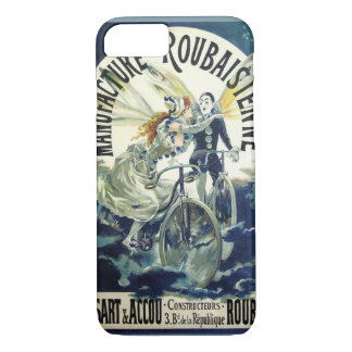 Vintage Art Nouveau Fairies, Pierrot Bicycle Moon iPhone 7 Case