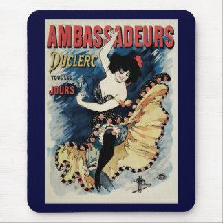 Vintage Art Nouveau, Spanish Flamenco Dancer Mouse Pad