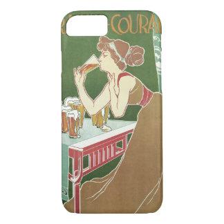 Vintage Art Nouveau, Woman Drinking Draft Beer iPhone 7 Case