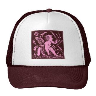 Vintage artwork of Cupid on chocolate background Cap