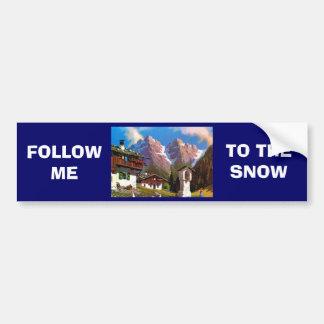 Vintage Austria, Bildstock, Tyrolean village Bumper Sticker