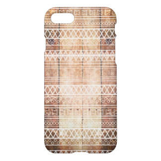 Vintage Aztec Tribal Wood iPhone 7 Case