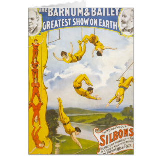 Vintage Barnum and Bailey Circus Greeting Card