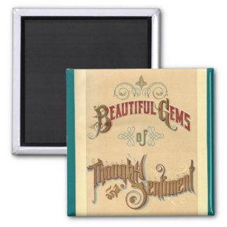 Vintage Beautiful Gems Sentiment Fridge Magnet