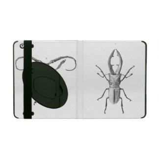Vintage beetle illustration case case for iPad