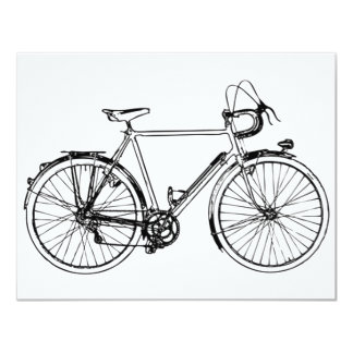 Vintage Bicycle 11 Cm X 14 Cm Invitation Card