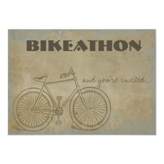 Vintage Bicycle Bikeathon Inivtation 13 Cm X 18 Cm Invitation Card