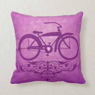 Vintage Bicycle Pink Pillow Throw Cushion