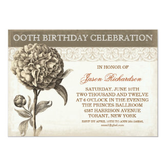 vintage birthday celebration inivtations 13 cm x 18 cm invitation card