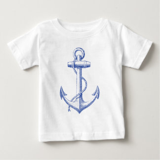 vintage blue anchor with rope t shirt