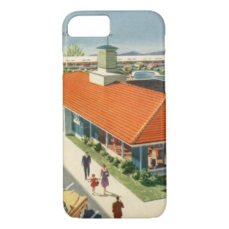 Vintage Business, Family Restaurant with Customers iPhone 7 Case