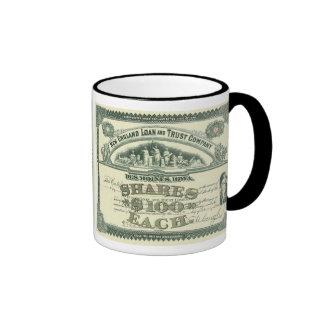 Vintage Business Finance Capital Stock Certificate Ringer Mug
