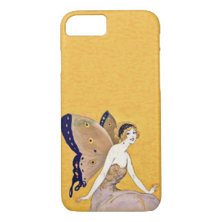 Vintage Butterfly Wings Fairy Fae Blond Hair iPhone 7 Case