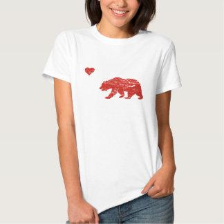 Vintage California Love Bear & Heart T-shirt