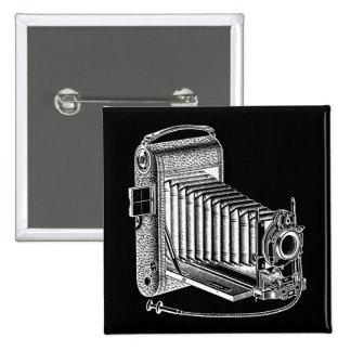 Vintage Camera - Antique Cameras Photography Retro 15 Cm Square Badge