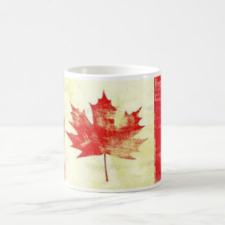 vintage canadian flag coffee mug design