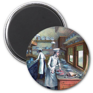 Vintage Chefs Kitchen Fridge Magnet