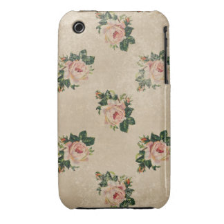 Vintage chic floral roses shabby boho rose flowers iPhone 3 cases