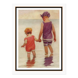 Vintage Children Paddling by Jessie Willcox Smith Postcard