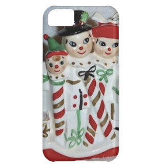 Vintage Christmas Candy Cane Family iPhone Case