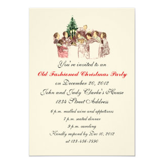 Vintage Christmas Dinner Party Invitations