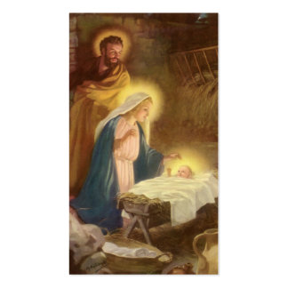 Vintage Christmas Nativity, Mary Joseph Baby Jesus Pack Of Standard Business Cards