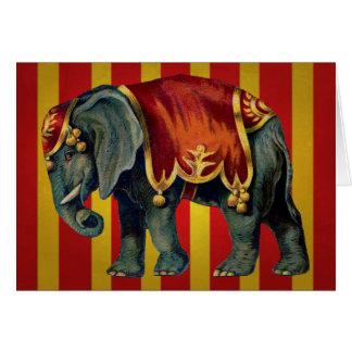 vintage circus elephant greeting card