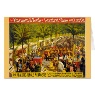 Vintage Circus Poster - Barnum & Bailey Greeting Card