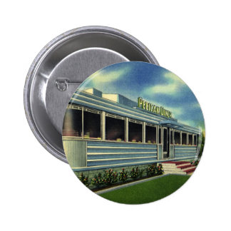 Vintage Classic 50s Retro Restaurant Pelican Diner 6 Cm Round Badge