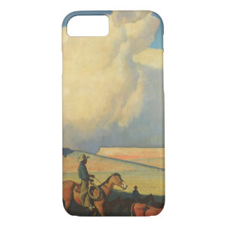 Vintage Cowboys, Open Range by Maynard Dixon iPhone 7 Case