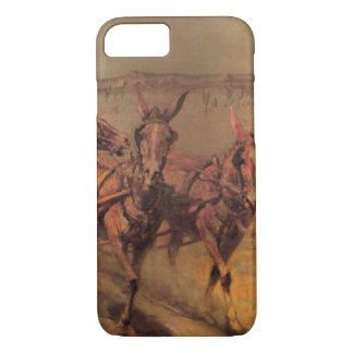 Vintage Cowboys, The Stage Coach by John Borein iPhone 7 Case
