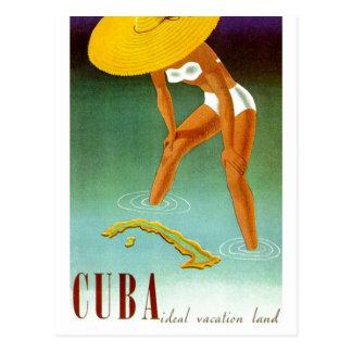 Vintage Cuba Ideal Vacation Land Postcard