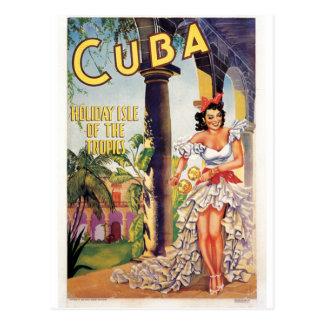 Vintage Cuban Tourist Commission Tropics Travel Postcard