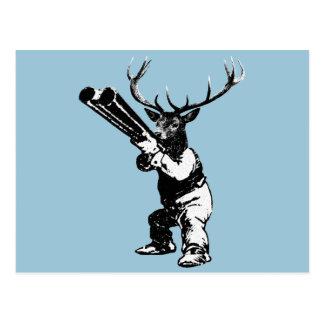 vintage deer hunting postcard