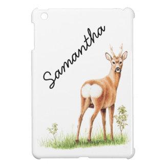 Vintage Deer Illustration - Cute Animal iPad Mini Cover