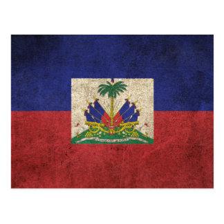 Vintage Distressed Flag of Haiti Postcard