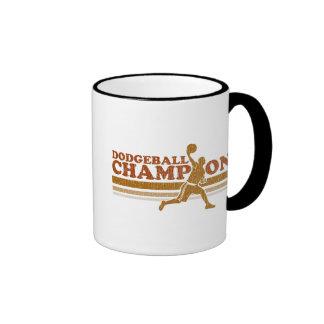Vintage Dodgeball Champion Ringer Mug