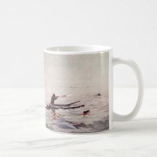 Vintage Duck Hunter Sea Kayak Sportsman Coffee Mug