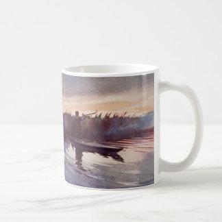 Vintage Duck Hunting Lake Sportsman Gun Coffee Mug