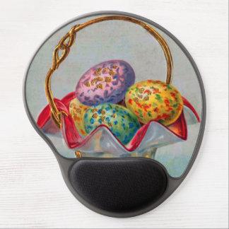Vintage Easter Basket Colored Egg Gel Mouse Pad
