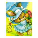Vintage Easter Bunny and Chick Postcards