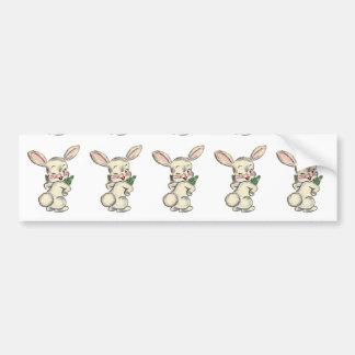 Vintage Easter Bunny Bumper Sticker