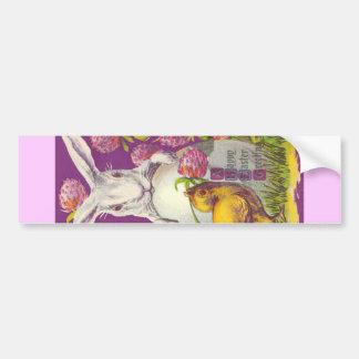 Vintage Easter Bunny Rabbit - Purple Bumper Sticker