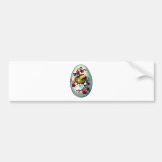 Vintage Easter Egg & Chick Bumper Sticker