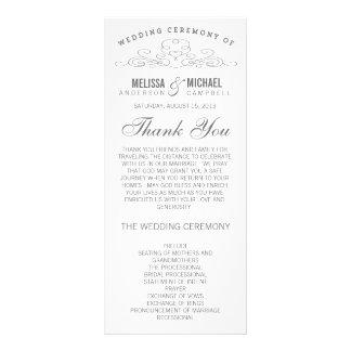 VINTAGE ELEGANCE | WEDDING PROGRAM CUSTOM RACK CARDS